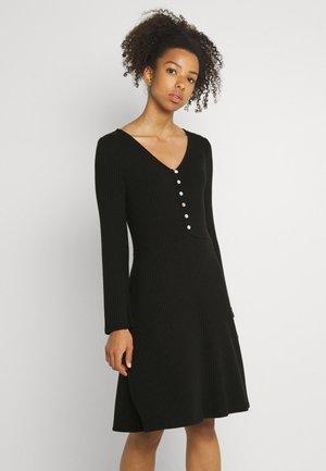 OBJBARBARA DRESS - Denní šaty - black