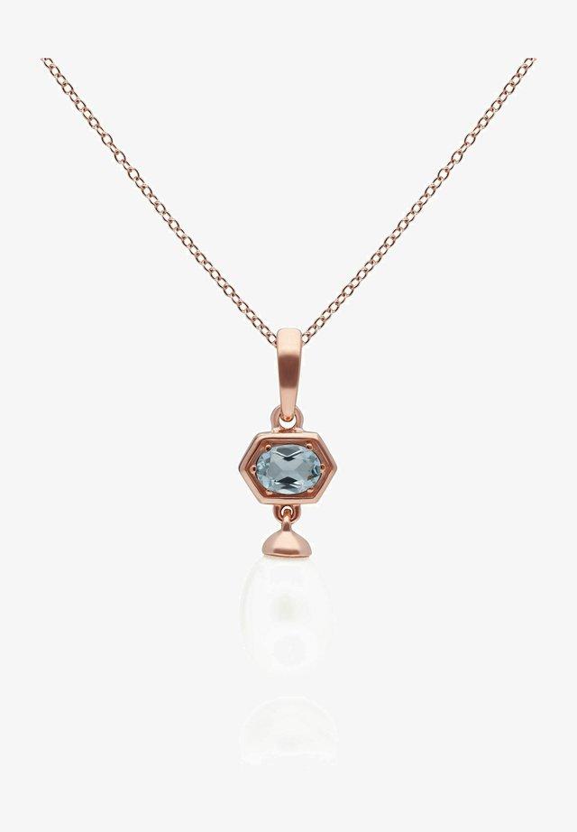 HEXAGON - Necklace - blue