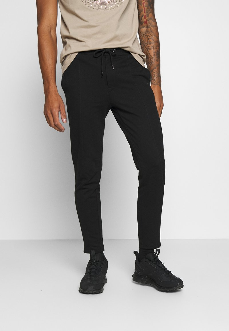 Zign - Pintuck Pleat - Tracksuit bottoms - black