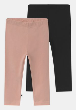NETTE 2 PACK UNISEX - Leggings - Trousers - black/blush