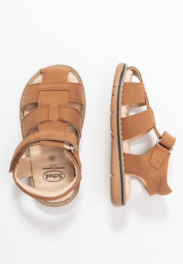 TRICLEO - Sandals - marron clair