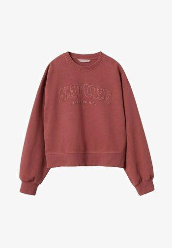 Sweatshirt - rouge-orangé