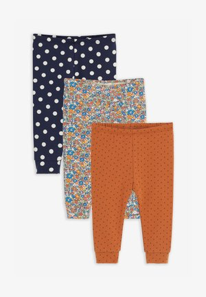 3 PACK FLORAL/SPOT  - Legging - brown