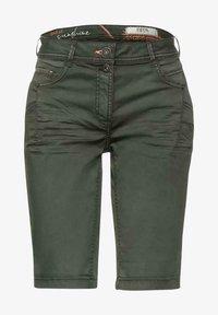 Cecil - Denim shorts - dark green - 0