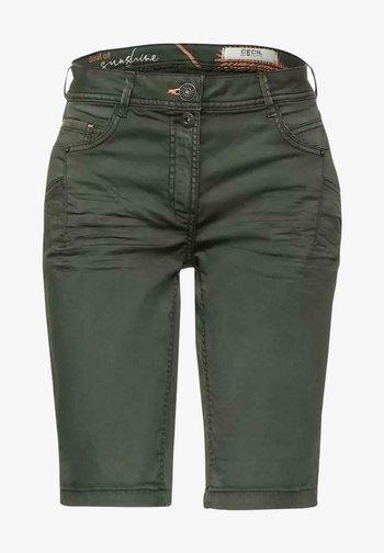 Denim shorts - dark green