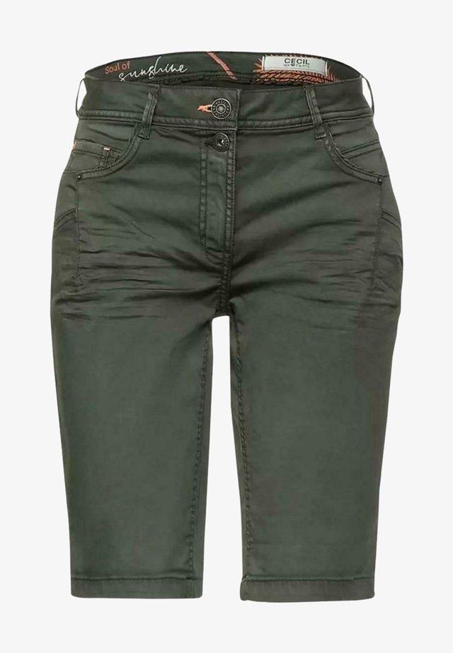 Jeansshorts - dark green