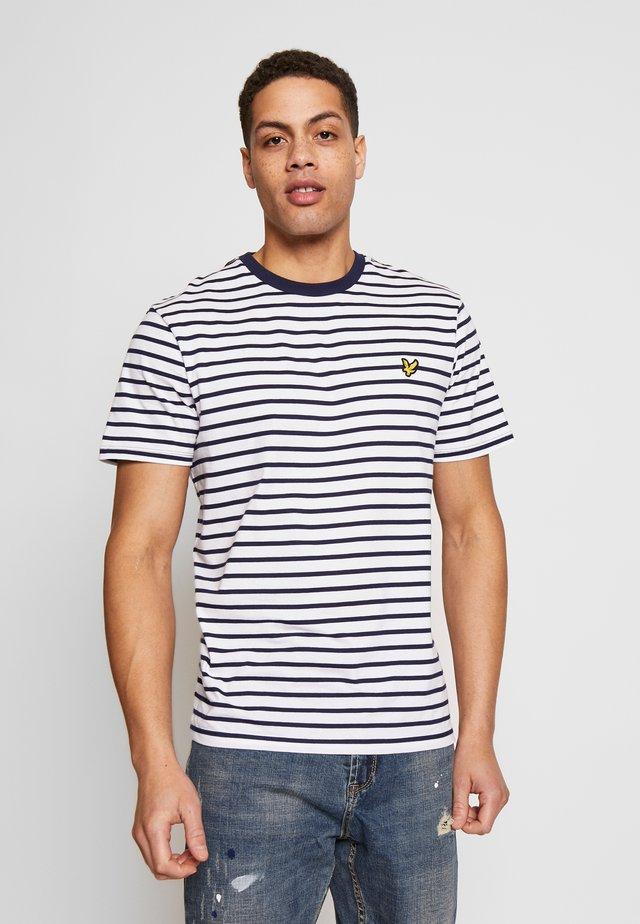 BRETON STRIPE  - T-shirt z nadrukiem - navy/white