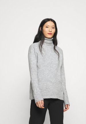 TURTLE NECK- WOOL BLEND - Jersey de punto - mottled light grey