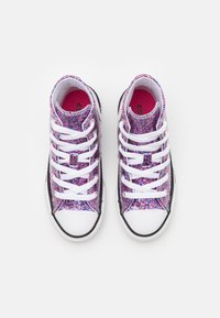 Converse - CHUCK TAYLOR ALL STAR COATED GLITTER - High-top trainers - bold pink/white/black - 3