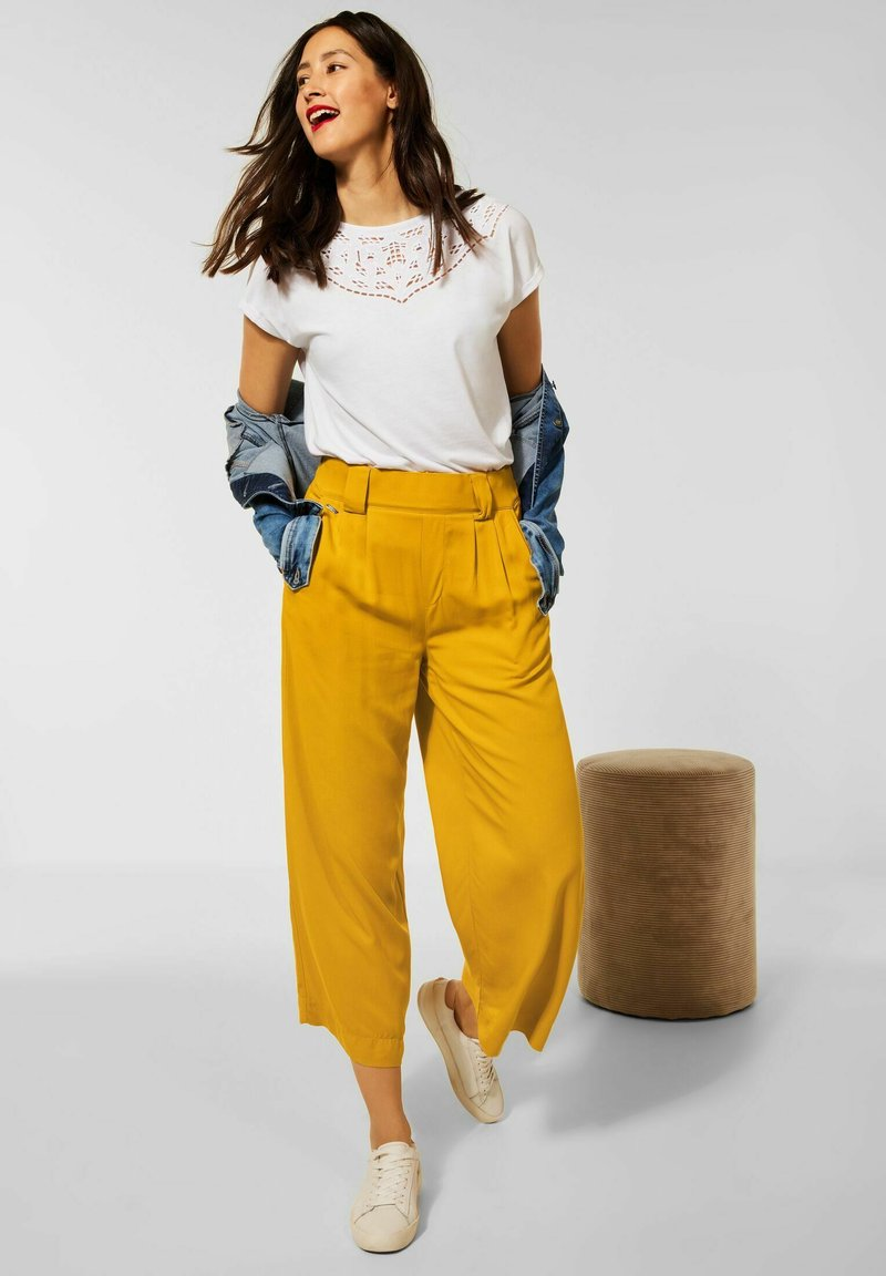 Street One - Trousers - gelb