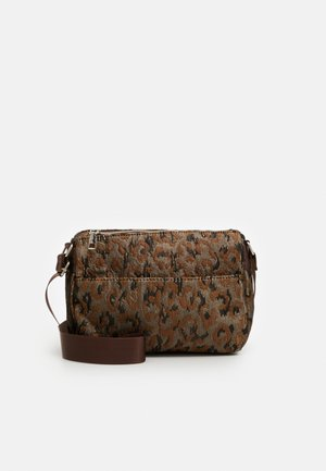 TERRA LEOPARD - Across body bag - silver/brown/multi
