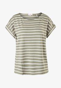 s.Oliver - Print T-shirt - summer khaki stripes - 6