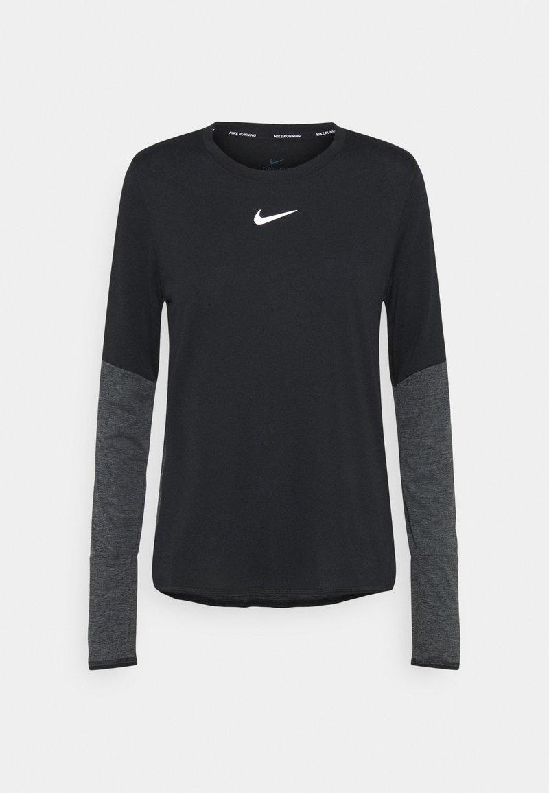 Nike Performance - RUNWAY CORE - Sports shirt - black/silver
