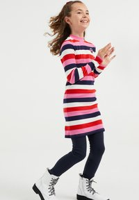 WE Fashion - MET GESTREEPTDESSIN - Jumper dress - multi-coloured - 0