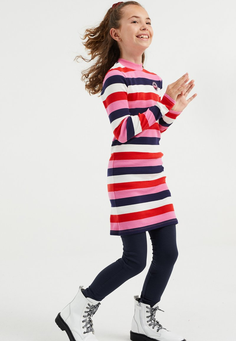 WE Fashion - MET GESTREEPTDESSIN - Jumper dress - multi-coloured
