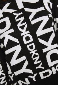 DKNY - EXPLODED LOGO - Strikkegenser - black/ivory - 6