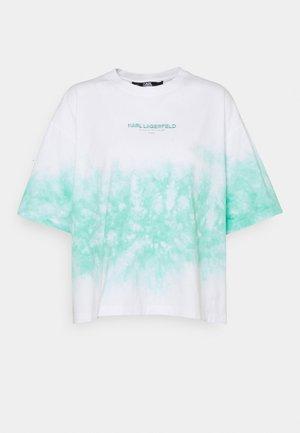 TIE DYE LOGO - Printtipaita - pastel green