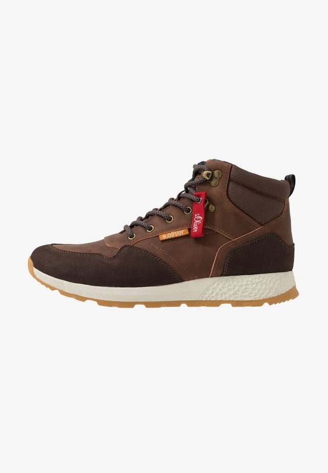 Sneakers hoog - brown