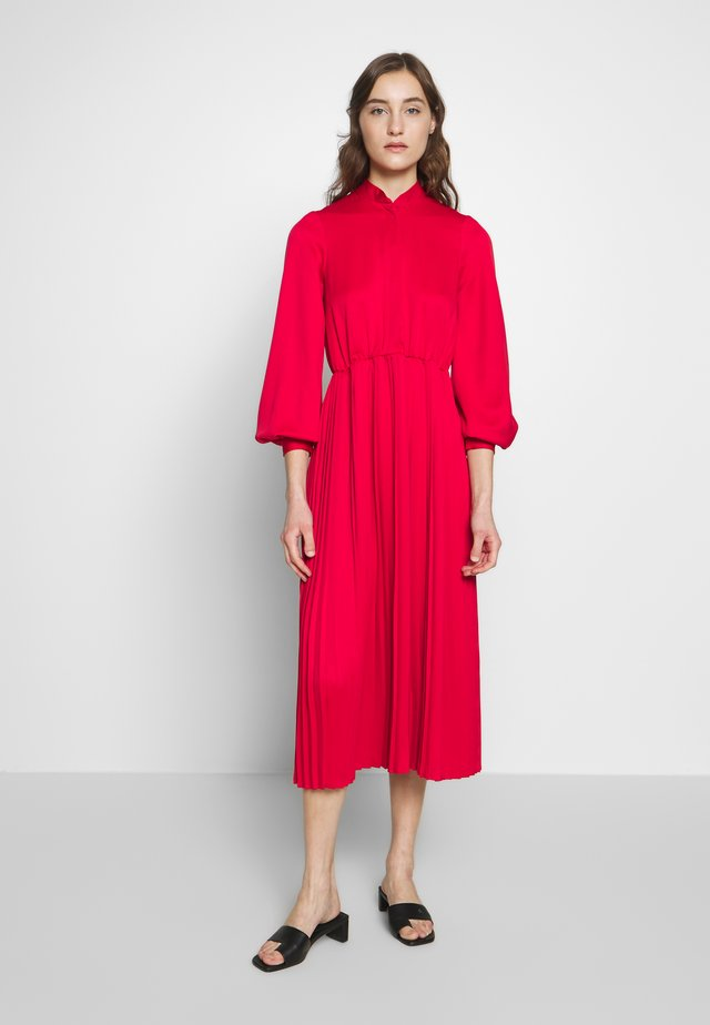 PLEATED DRESS - Day dress - red