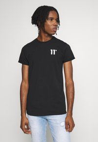 11 DEGREES - CORE MUSCLE FIT - Print T-shirt - black - 0