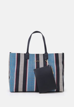 ICONIC TOTE STRIPES SET - Shoppingveske - blue