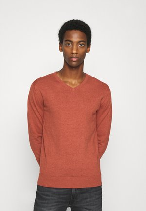 Pullover - heated orange melange