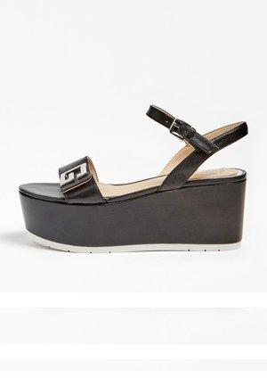 WEDGES KATINA ECHTES LEDER - Sandales à plateforme - schwarz