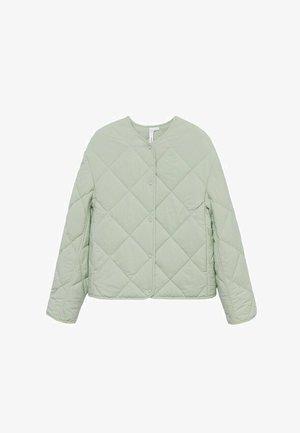 GEWATTEERDE - Light jacket - mintgroen