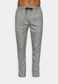 CAMONT - Trousers - black/white check
