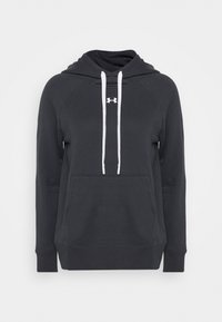Under Armour - RIVAL HOODIE - Jersey con capucha - black - 4