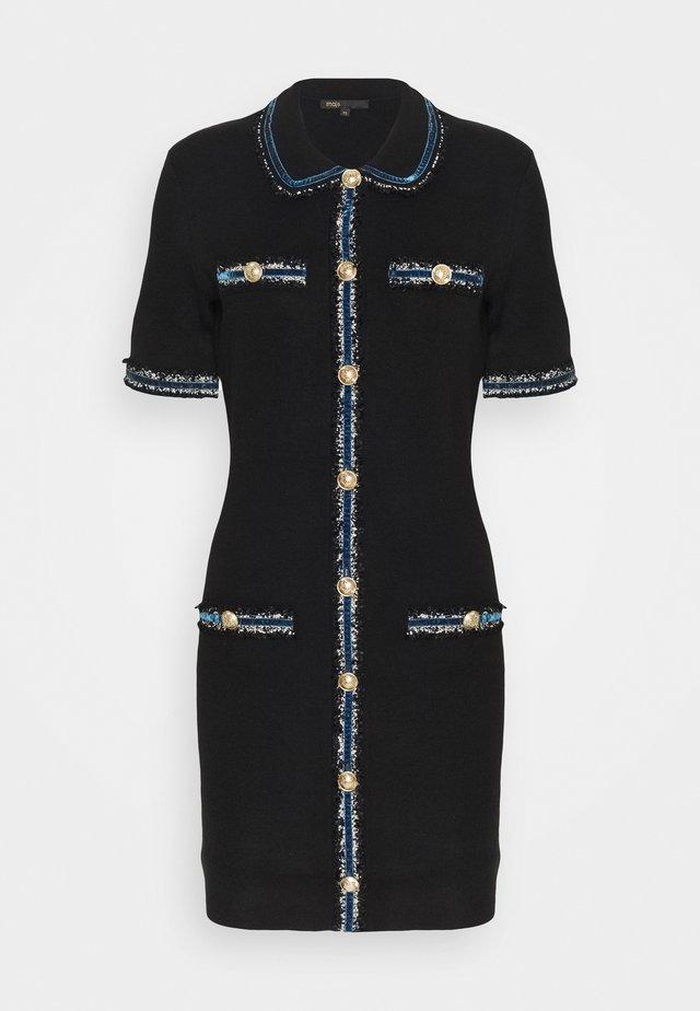 RAVENA - Gebreide jurk - noir