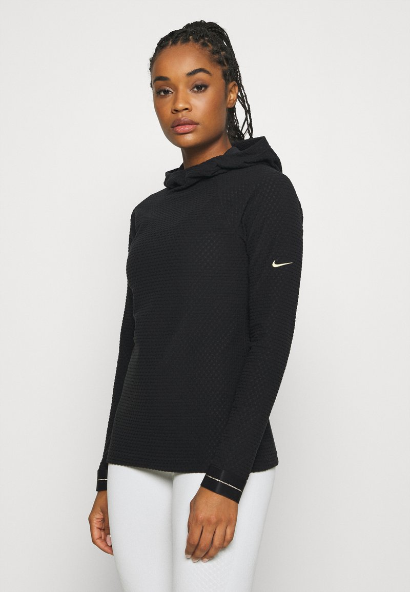 Nike Performance - Fleece jumper - black/metallic gold