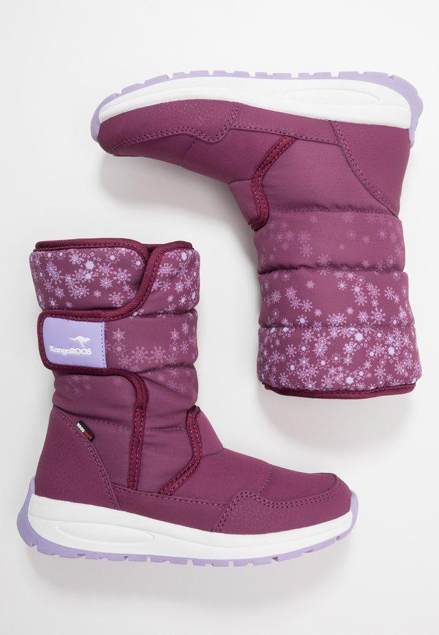 K-FLUFF RTX - Zimní obuv - fuchsia/lavender