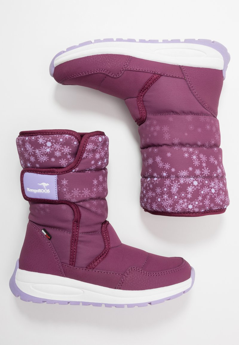 KangaROOS - K-FLUFF RTX - Winter boots - fuchsia/lavender