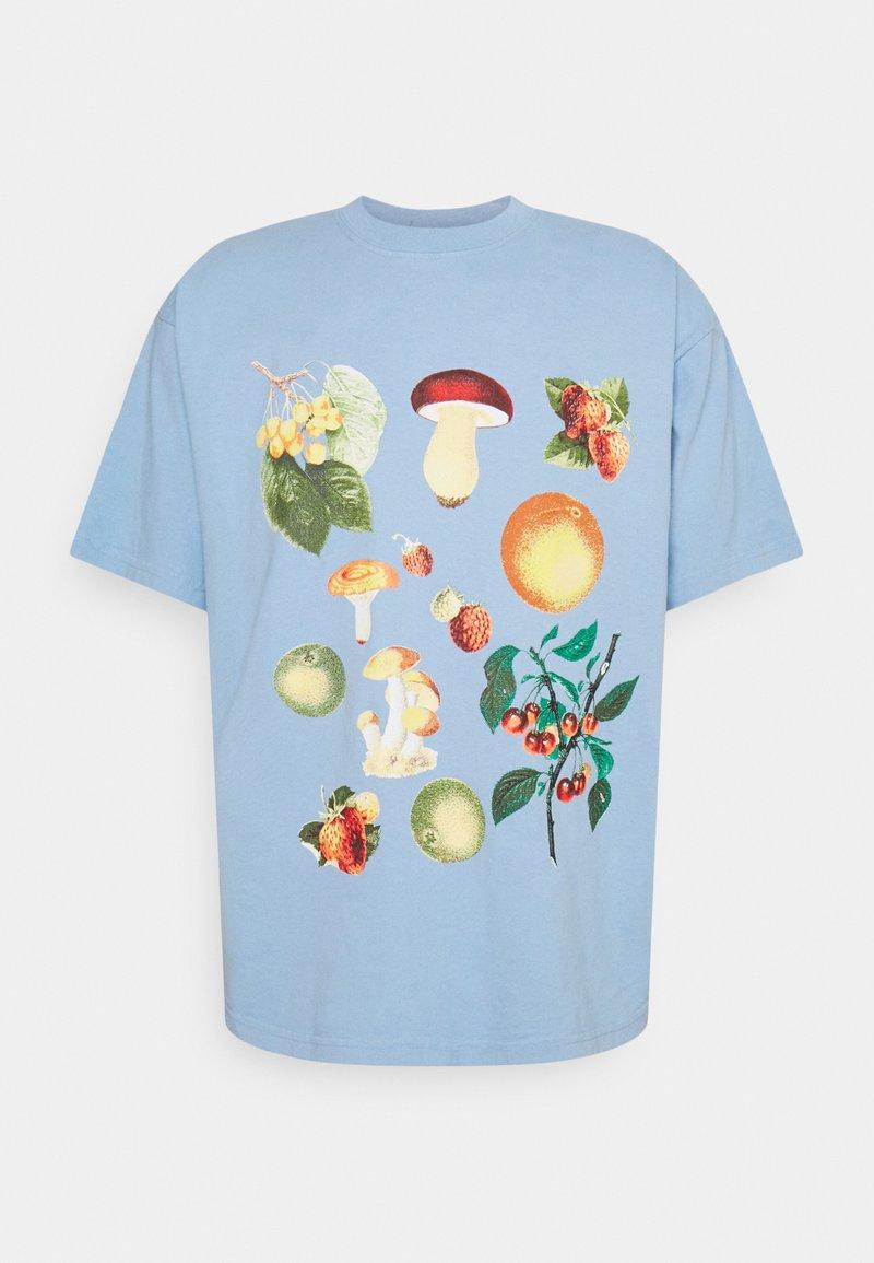 Obey Clothing - FRUITS AND MUSHROOMS - Print T-shirt - good grey