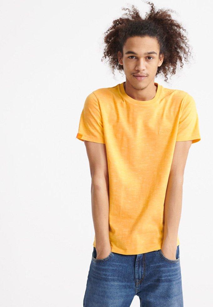 Superdry - VINTAGE CREW - Basic T-shirt - nautical yellow