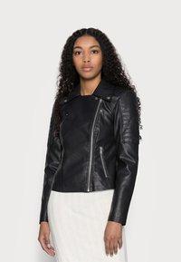 Noisy May Petite - NMREBEL - Faux leather jacket - black - 0