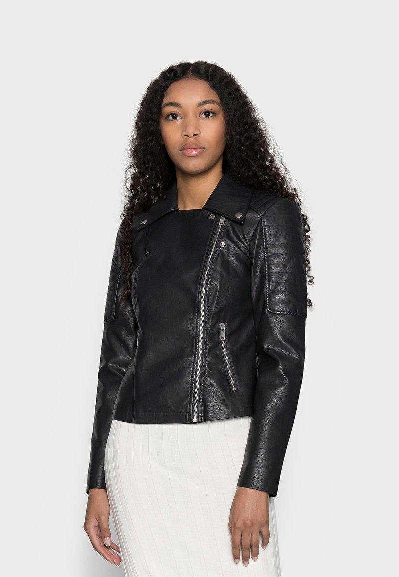 Noisy May Petite - NMREBEL - Faux leather jacket - black