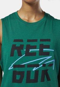 Reebok - MEET YOU THERE REEBOK MUSCLE TANK TOP - Sports shirt - clover green - 2