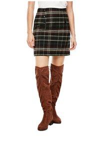 s.Oliver - A-line skirt - khaki check - 0