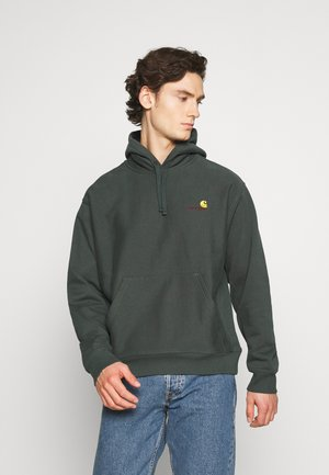 HOODED AMERICAN SCRIPT - Sweat à capuche - dark teal