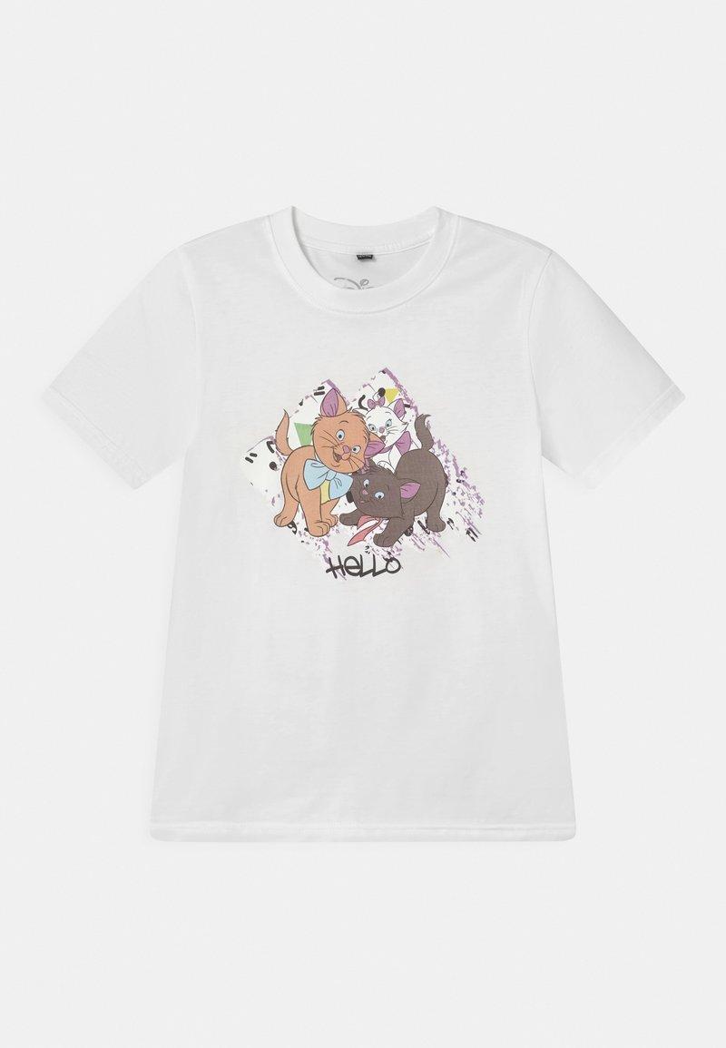 Mister Tee - ARISTOCATS TEE UNISEX - Print T-shirt - white
