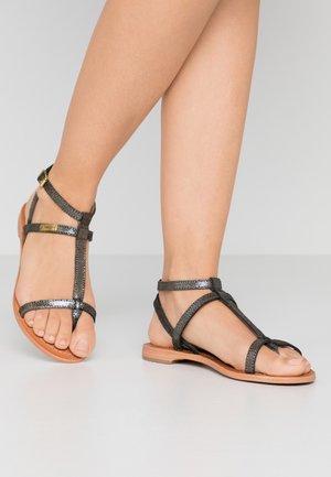 HILAN - T-bar sandals - noir irise