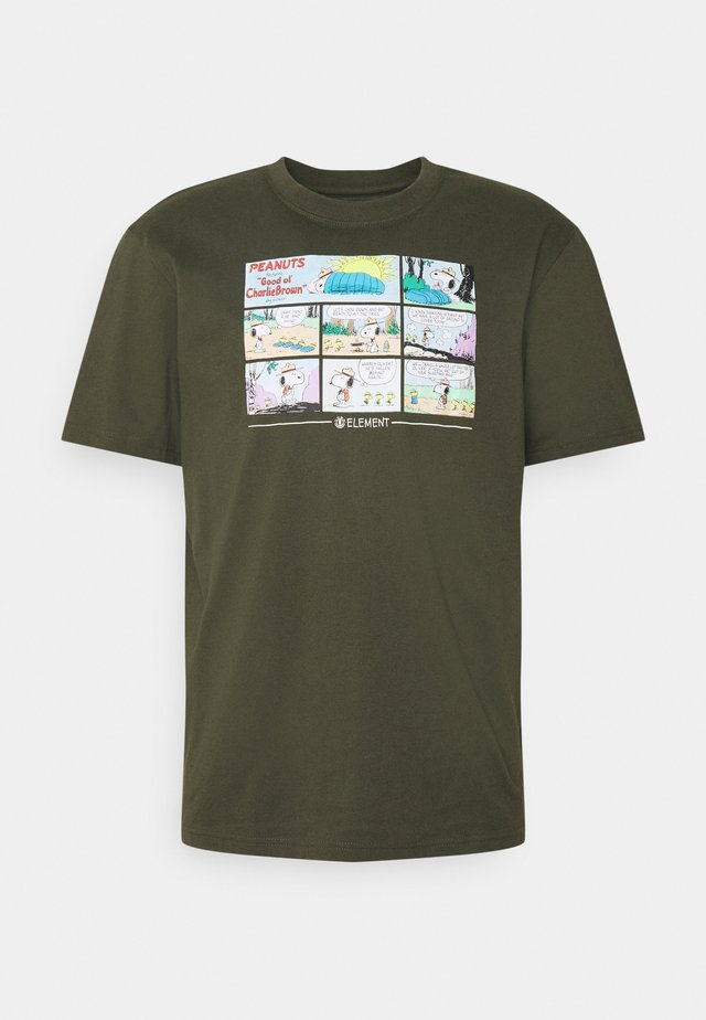 PEANUTS ADVENTURE - Print T-shirt - army