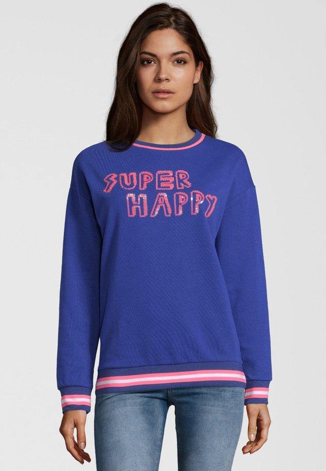 SUPER HAPPY - Sweatshirt - blue