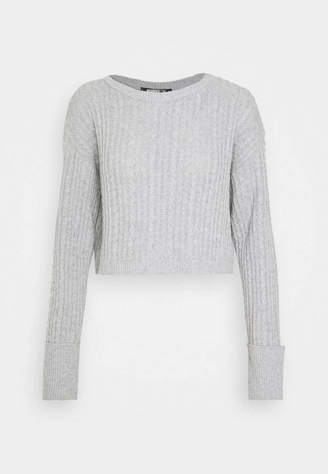 ROLL SLEEVE CABLE JUMPER - Jumper - grey