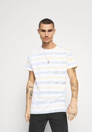 REEF - T-shirt con stampa - optic white/bottle green/yellow