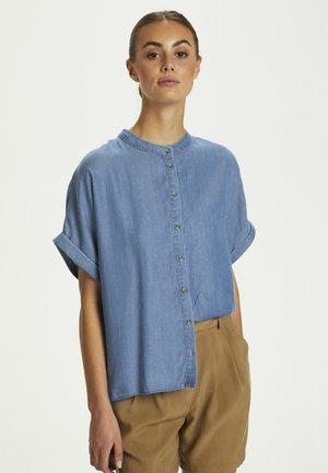 Button-down blouse - classic blue denim