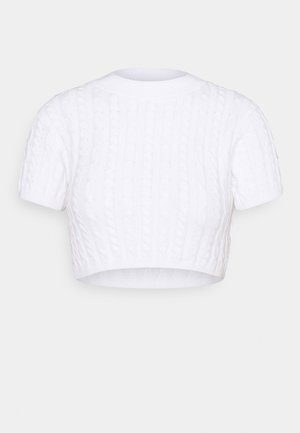 CROPPED TOP  - Jumper - white