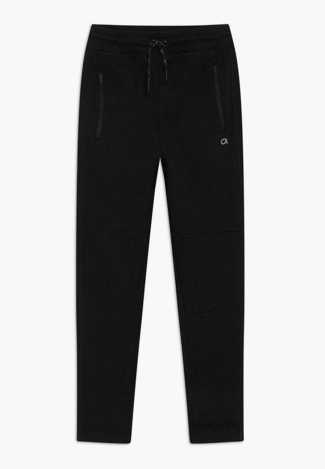 BOY FIT TECH - Tracksuit bottoms - true black